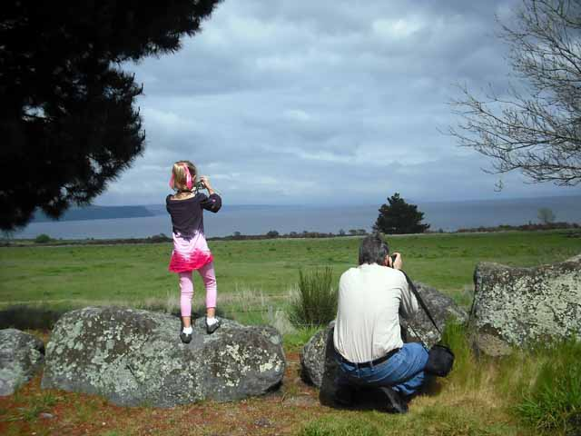 Brigit and Joe taking pictures of another beautiful view
